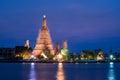 Temple of dawn (wat arun) in bangkok ,thailand renovate and repa Royalty Free Stock Photo
