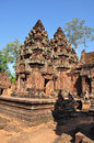 Temple de Banteay Srey, Angkor au Cambodge Photo libre de droits