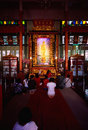 Temple de Chinois de Li Thi Miew Photos stock
