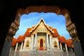 Temple de marbre de la thaïlande Image stock