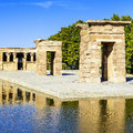 Temple of Debod Madrid Royalty Free Stock Photo