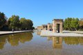 Temple of debod madrid spain egyptian rebuilt ancient architecture Stock Image