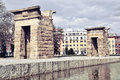 Temple of Debod in Madrid Royalty Free Stock Photo