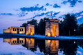 Temple of Debod, Parque del Oeste,Madrid, Spain Royalty Free Stock Photo