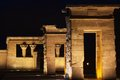 Temple of deboh night image the egyptian in madrid Royalty Free Stock Images