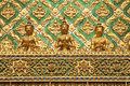 Temple decoration in grand palace of bangkok thailand Stock Photos
