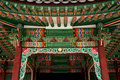 Temple detail in seoul south korea Royalty Free Stock Photo
