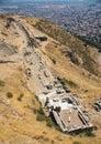 The Temple of Dionysus in Pergamon, Turkey Royalty Free Stock Photo