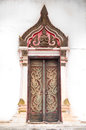 Temple door ancient in thailand Royalty Free Stock Image