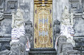 Temple door in bali indonesia Royalty Free Stock Image