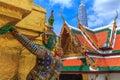 Temple of The Emerald Buddha or Wat Phra Kaew, Grand Palace, Bangkok, Thailand Royalty Free Stock Photo