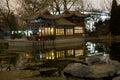 Temple en pierre de bateau de Sun Pékin Image stock