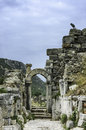 Temple ephesus hadrianus turkey unesco site Royalty Free Stock Photos