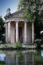 Temple of esculapio in villa borghese garden rome italy Royalty Free Stock Photography