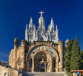 Temple expiatori del sagrat cor on tibidabo mountain in barcelon barcelona spain Royalty Free Stock Image