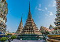Temple exterior Wat Pho temple bangkok Thailand Royalty Free Stock Photo