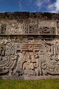 Temple of the Feathered Serpent detail Royalty Free Stock Photo