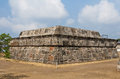 The Temple of the Feathered Serpent Xochicalco Stock Photo