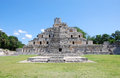 Temple of five floors in edzna main acropolis yucatan Royalty Free Stock Photography