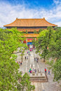 Temple in the forbidden city beijing china Royalty Free Stock Photos