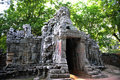 Temple in the forest angkor wat cambodia old Royalty Free Stock Photos