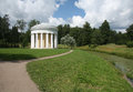 Temple of friendship in the pavlovsk park garden saint petersburg Stock Photos