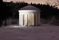 The temple of friendship in the pavlovsk park at night on january russian federation Royalty Free Stock Photo