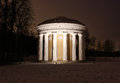 The temple of friendship in the pavlovsk park at night on january russian federation Stock Image
