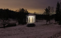 The temple of friendship in the pavlovsk park at night on january russian federation Royalty Free Stock Image