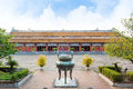 Temple of the generations in citadel hue imperial city and ding symbolised king gia long first king nguyen dynasty Royalty Free Stock Photo