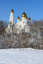 Temple of a god s swear icon russia rostov on don healer Stock Images