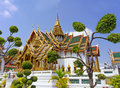 Temple in grand palace emerald buddha wat phra kaew bangkok thailand Royalty Free Stock Photos