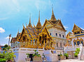 Temple in grand palace emerald buddha wat phra kaew bangkok thailand Stock Images