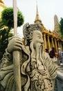 temple guard bangkoks grand palace Royalty Free Stock Photo