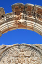 Temple of Hadrian Arch at Ephesus Royalty Free Stock Photo