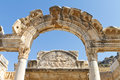 Temple of hadrian in ephesus turkey Stock Photography