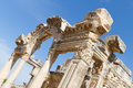 Temple of hadrian in ephesus turkey Royalty Free Stock Images