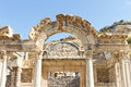 Temple of hadrian in ephesus turkey Royalty Free Stock Photography