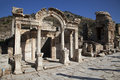 Temple of hadrian ephesus turkey wonderful in the ancient city Royalty Free Stock Images