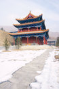 Temple hall the great of zhulin in wutai mountain in shanxi in china Royalty Free Stock Image