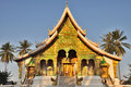 Temple at Haw Pha Bang Stock Photo