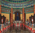 Temple of heaven altar of heaven beijing china inside the hall prayer for good harvests Stock Photos
