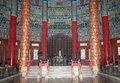 Temple of heaven altar of heaven beijing china inside the hall prayer for good harvests Royalty Free Stock Photos
