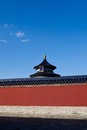 Temple of heaven ancient chinese architecture Royalty Free Stock Images