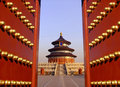 Temple of heaven in beijing china is a place ancient chinese emperors prayed to is a famous tourist destination belongs Royalty Free Stock Photos