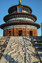 Temple of heaven dragon carved on stone in Stock Photo