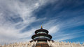 Temple of Heaven from side view Stock Photography