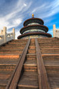 Temple of heaven from side view beijing china Stock Image