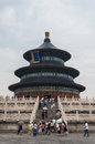 Temple of heaven tourists flock to the in beijing china Royalty Free Stock Photography
