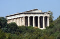 Temple of Hephaestus Royalty Free Stock Photos